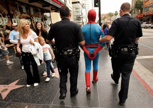 Spiderman Arrested