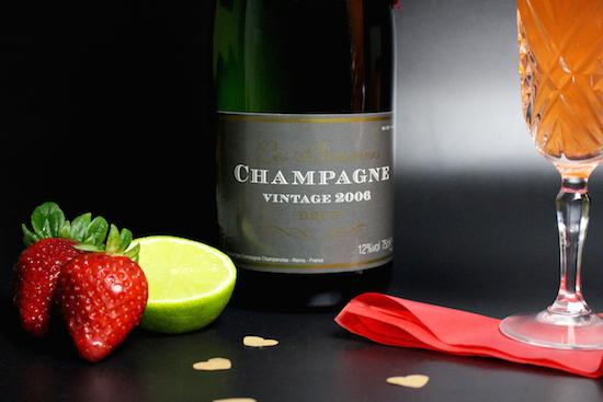Champagne Strawberry Lime Bellini Recipe