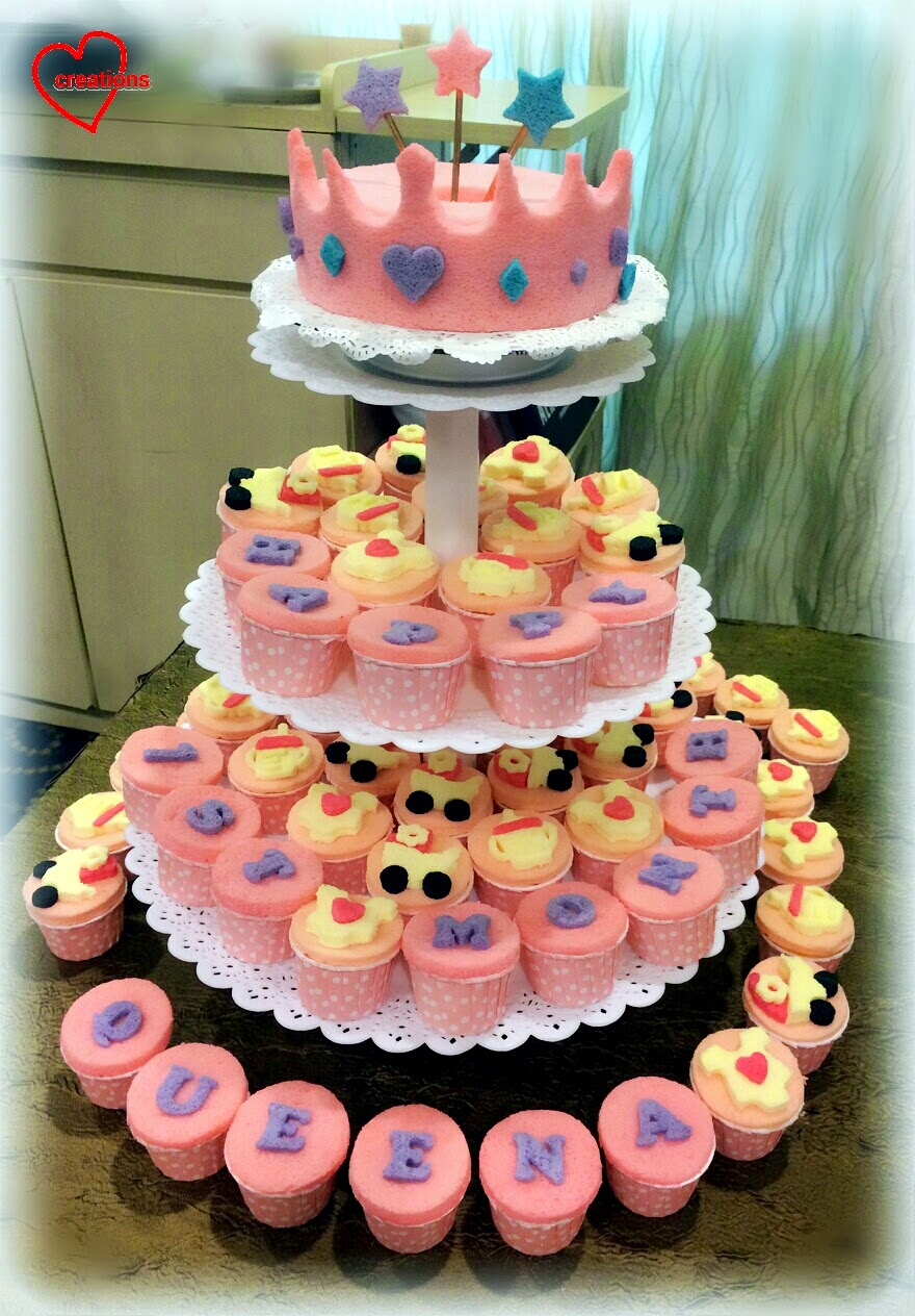 Loving Creations For You Queen S Crown Chiffon Cake And Cupcakes