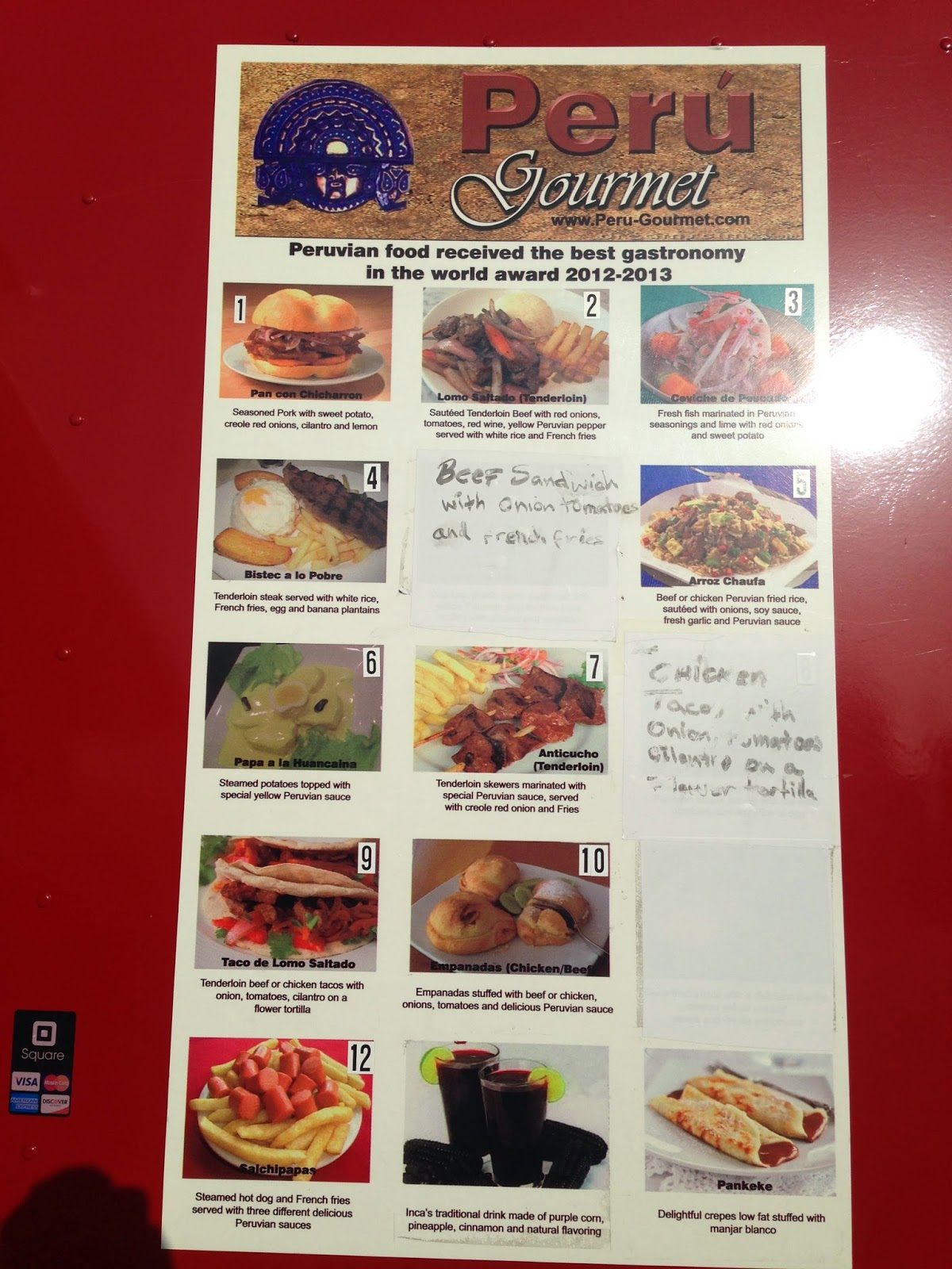 Peru Gourmet Food Truck Houston, TX Menu