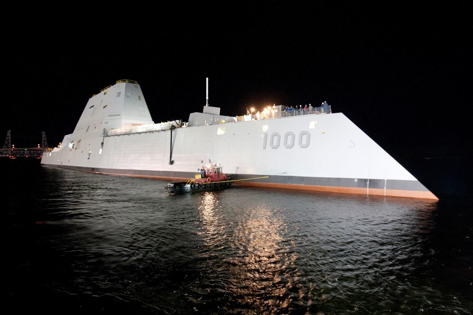 Uss Ddg 1000 Zumwalt Stealth Guided Missile Destroyer