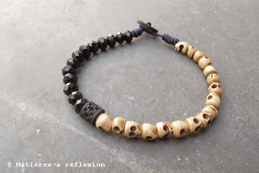 Bracelet unisex perles os vanité Orner