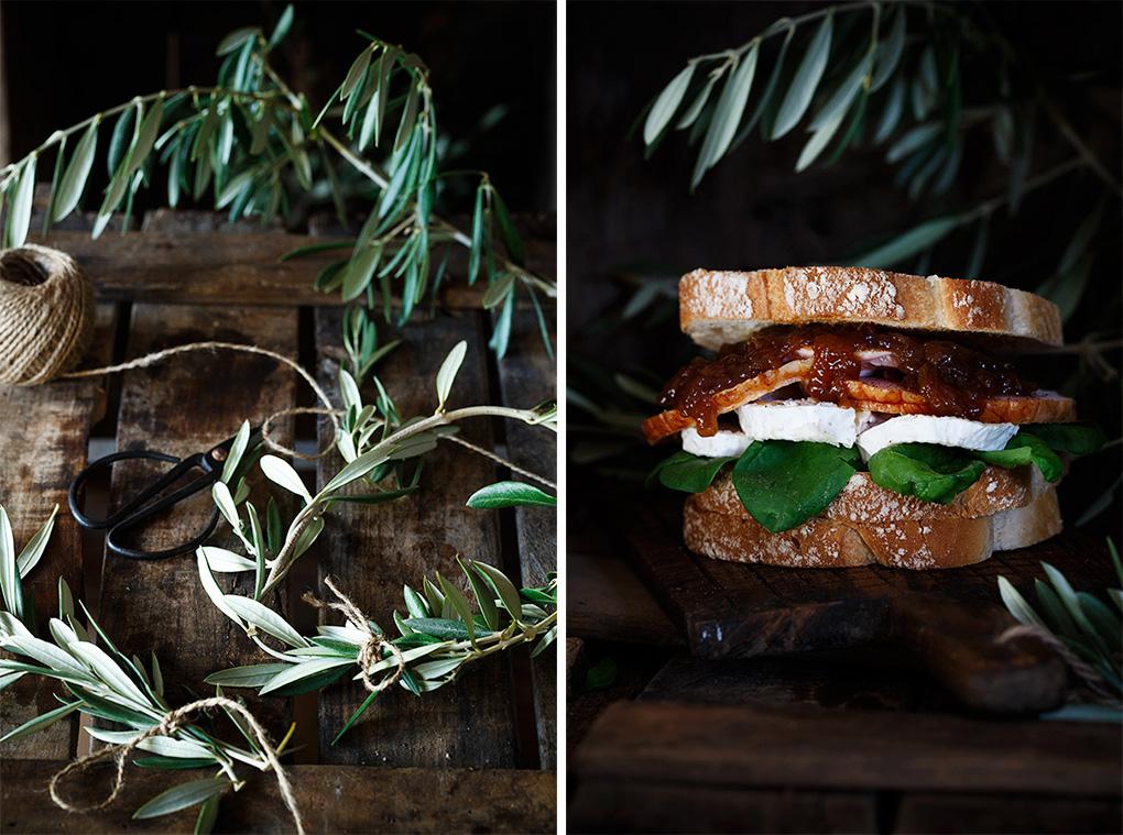 Sandwich de pollo para picnic o cenas