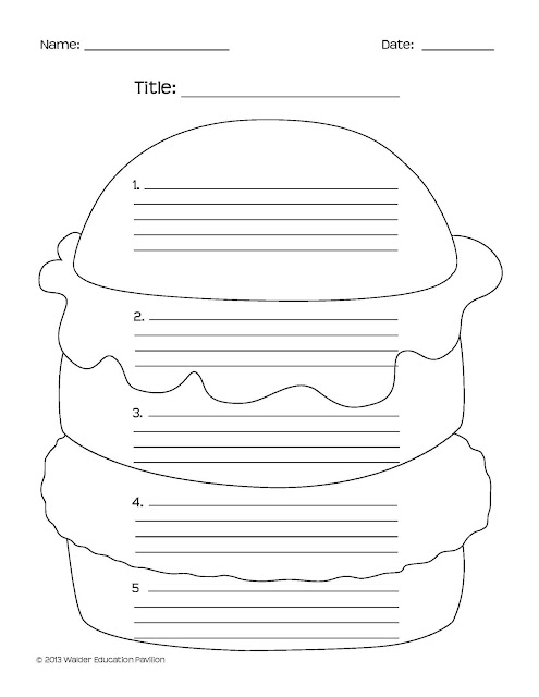 burger writing template - walder education pavilion of torah umesorah hamburger