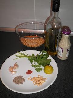 Ingredients for Hummus bi Tahini