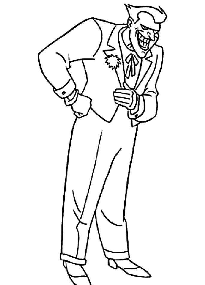 Coloring Pages Batman Coloring Pages The Joker Coloring Pages