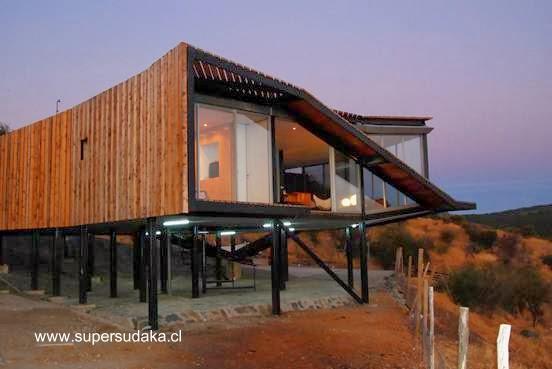 Casa de madera contemporánea chilena