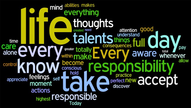 Become more aware of your words, moods, actions.