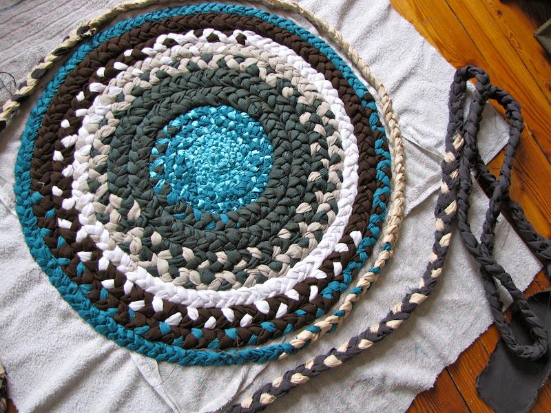 Плетение ковра своими руками