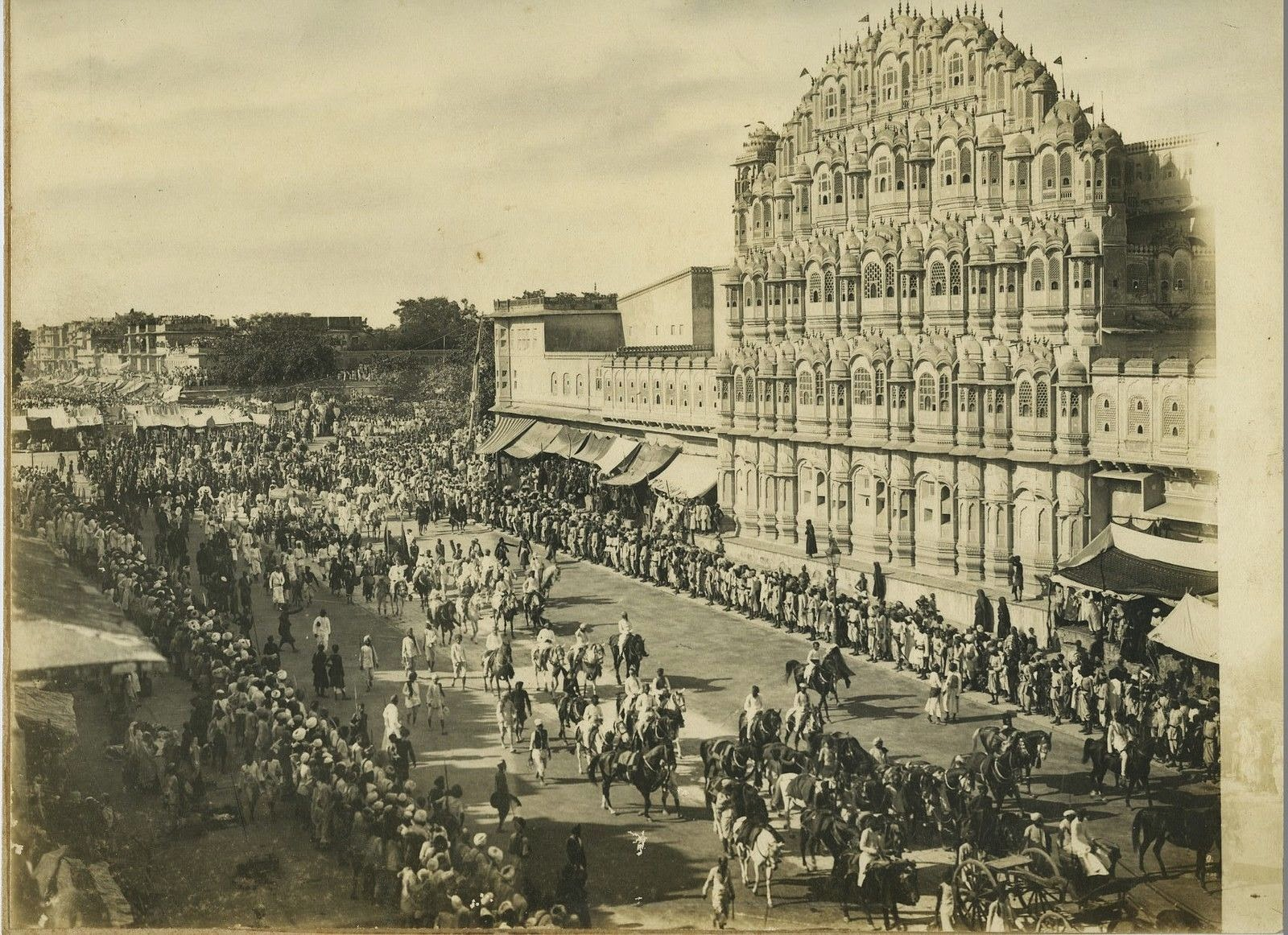 Various Photographs Of A Procession In Jaipur Rajasthan C1920 39 S Old Indian Photos