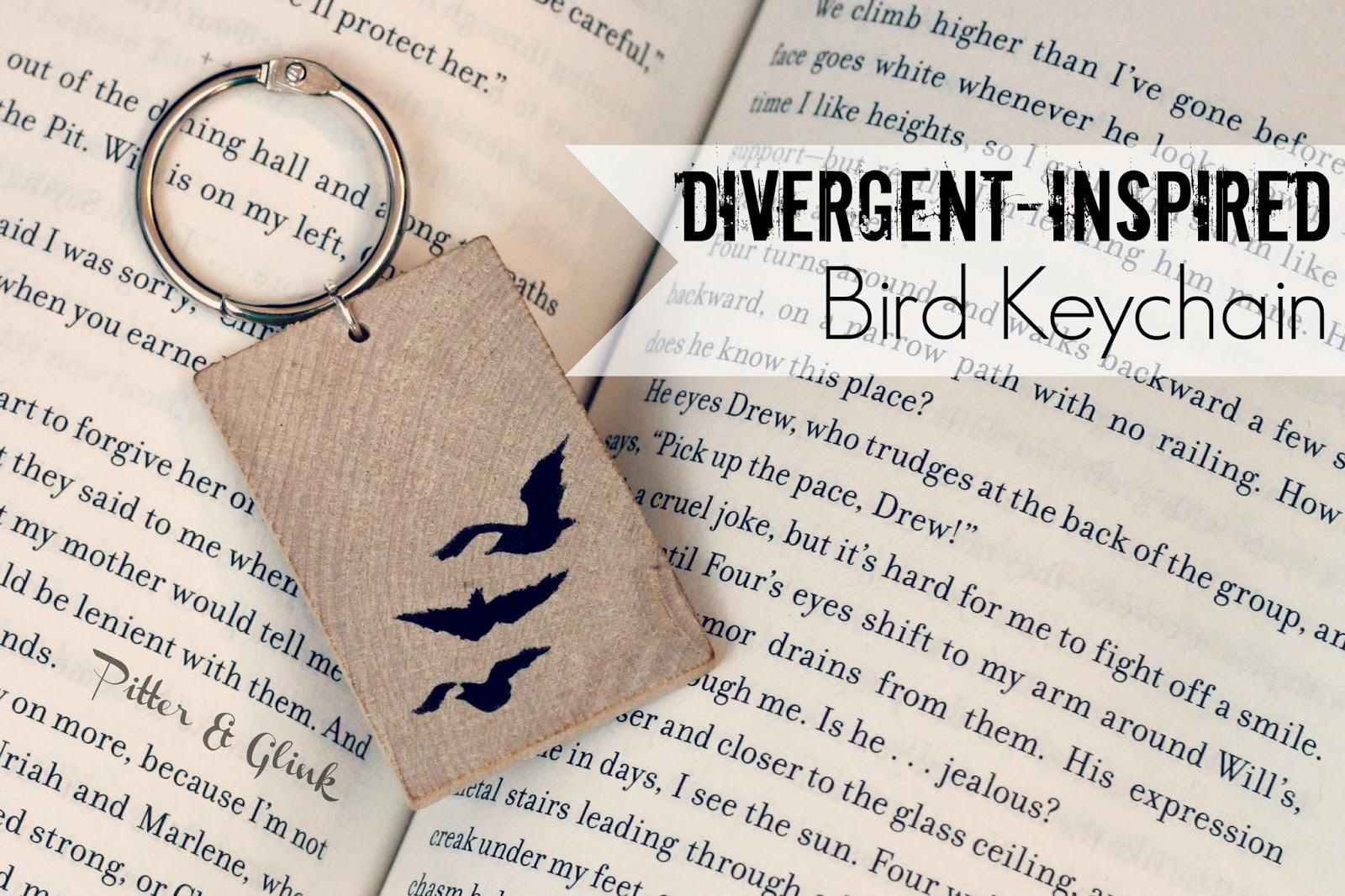 DIY Divergent-Inspired Keychain from PitterandGlink.com #divergent