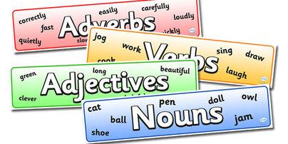 Nouns Verbs Adjectives Adverbs Pronouns