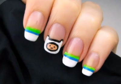 Adventure Time Finn Nails