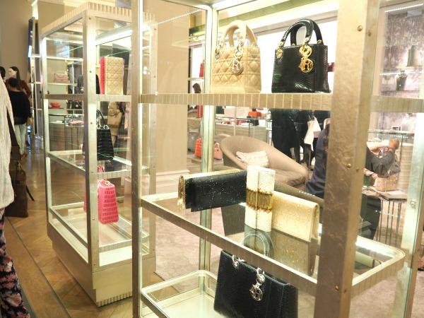 A photo of Dior handbags