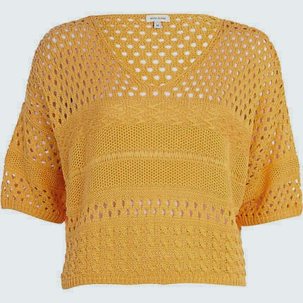 river island orange jumper