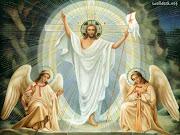 Felices Pascuas de Resurrección. Un Ángel del Señor, refulgente como un rayo . la resurrecci de nuestro se or jesucristo