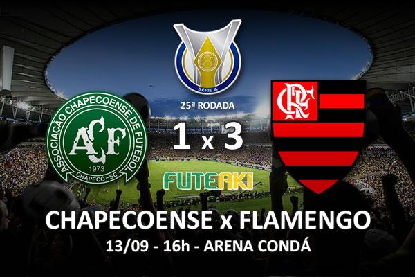 Veja o resumo da partida com os gols e os melhores momentos de Chapecoense 1x3 Flamengo pela 25ª rodada do Brasileirão 2015.