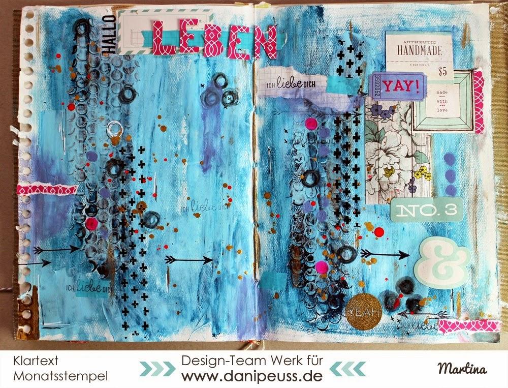 http://danipeuss.blogspot.com/2015/02/art-journal-seite-hallo-leben-schau-mal.html