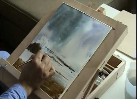 Painting a Seascape in Water color part 1