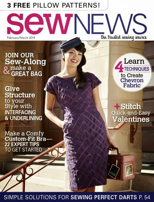 Chevron dress by Stepalica featured in Sew News - cover page