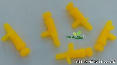 béc tưới nhỏ giọt điều chỉnh lưu lượng màu vàng