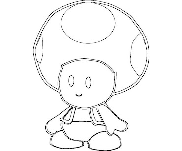 #3 Toad Coloring Page