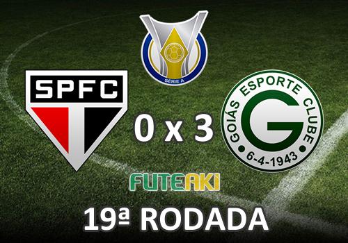 Veja o resumo da partida com os gols e os melhores momentos de São Paulo 0x3 Goiás pela 19ª rodada do Brasileirão 2015