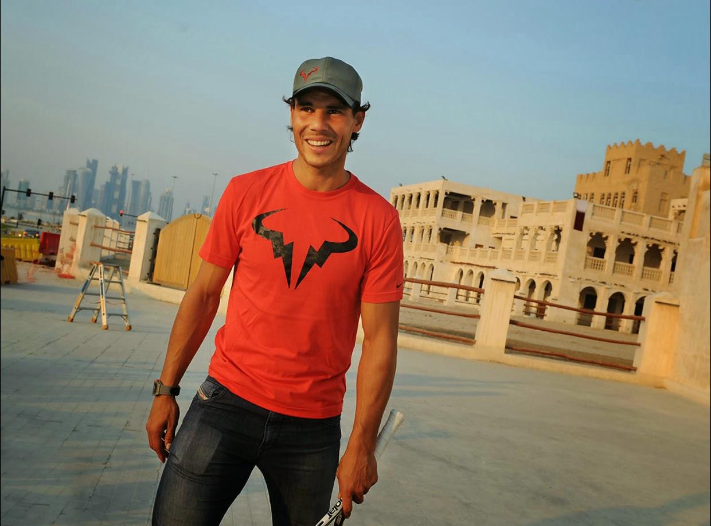Rafa Nadal in Doha