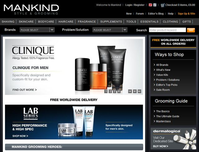 Gifts for Valentine's Day for Him at Mankind.co.uk