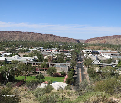 Alice Springs, clouds on the horizon