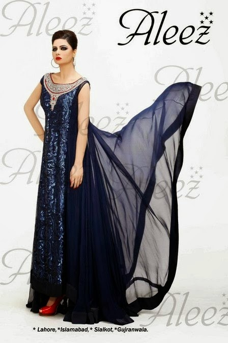 Photos Girls2 New Aleez Semi Formal Dresses Eid Collection 2014 For
