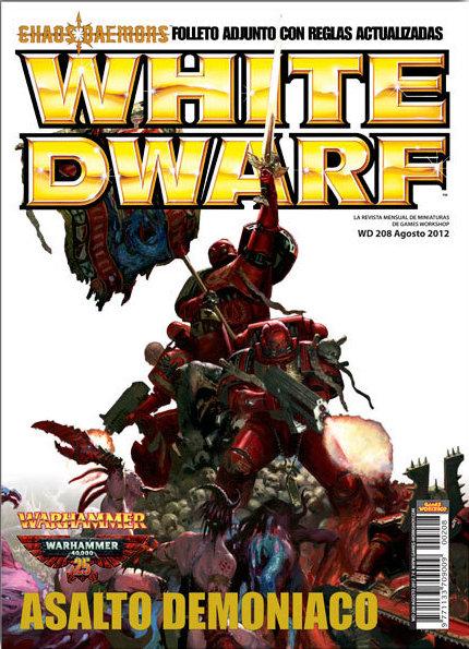Portada del número 208 de la Revista White Dwarf