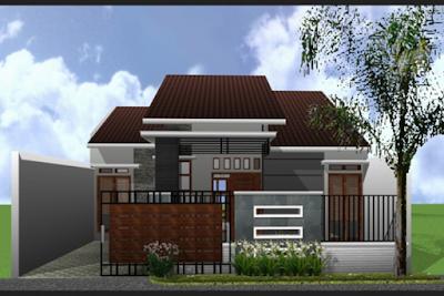 model pagar minimalis untuk rumah modern type 45