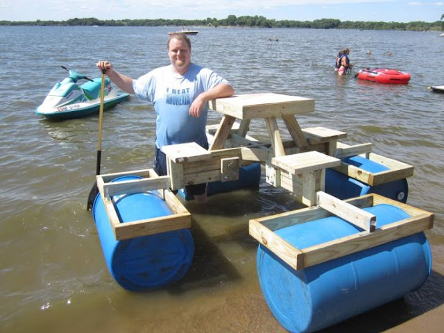 DIY Floating Picnic Table
