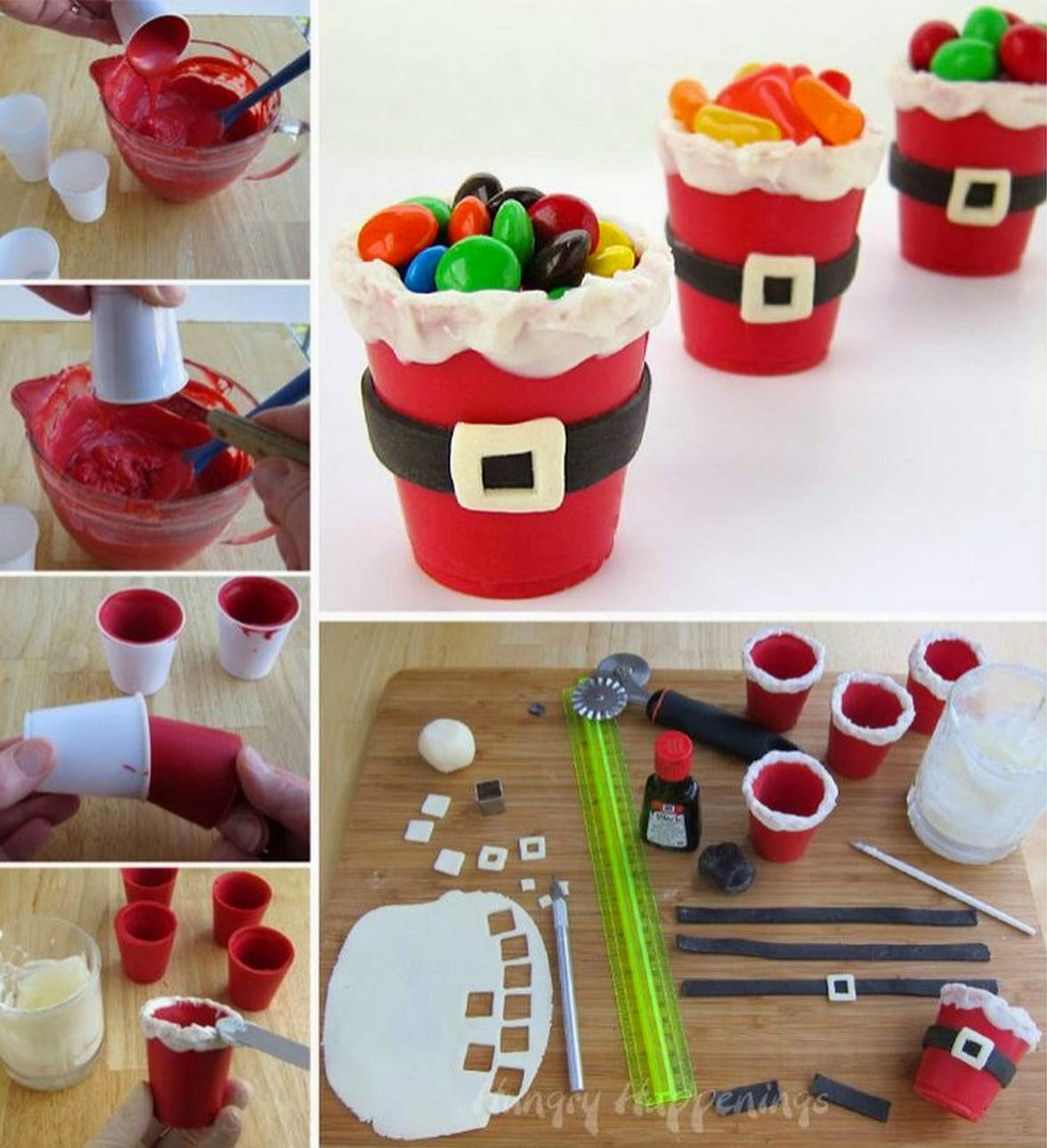 Edible santa suit candy cups creative ideas for Christmas crafts and gifts