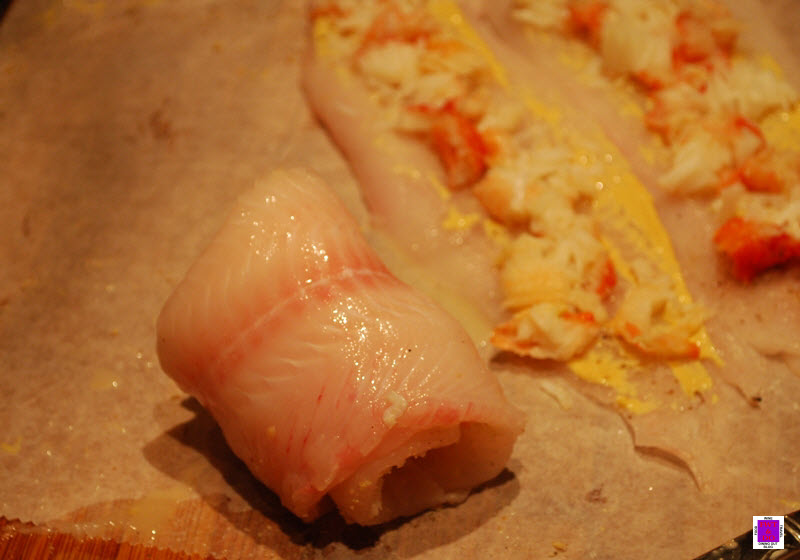 Crab Stuffed Dover Sole – roll the fillets and secure with a ...