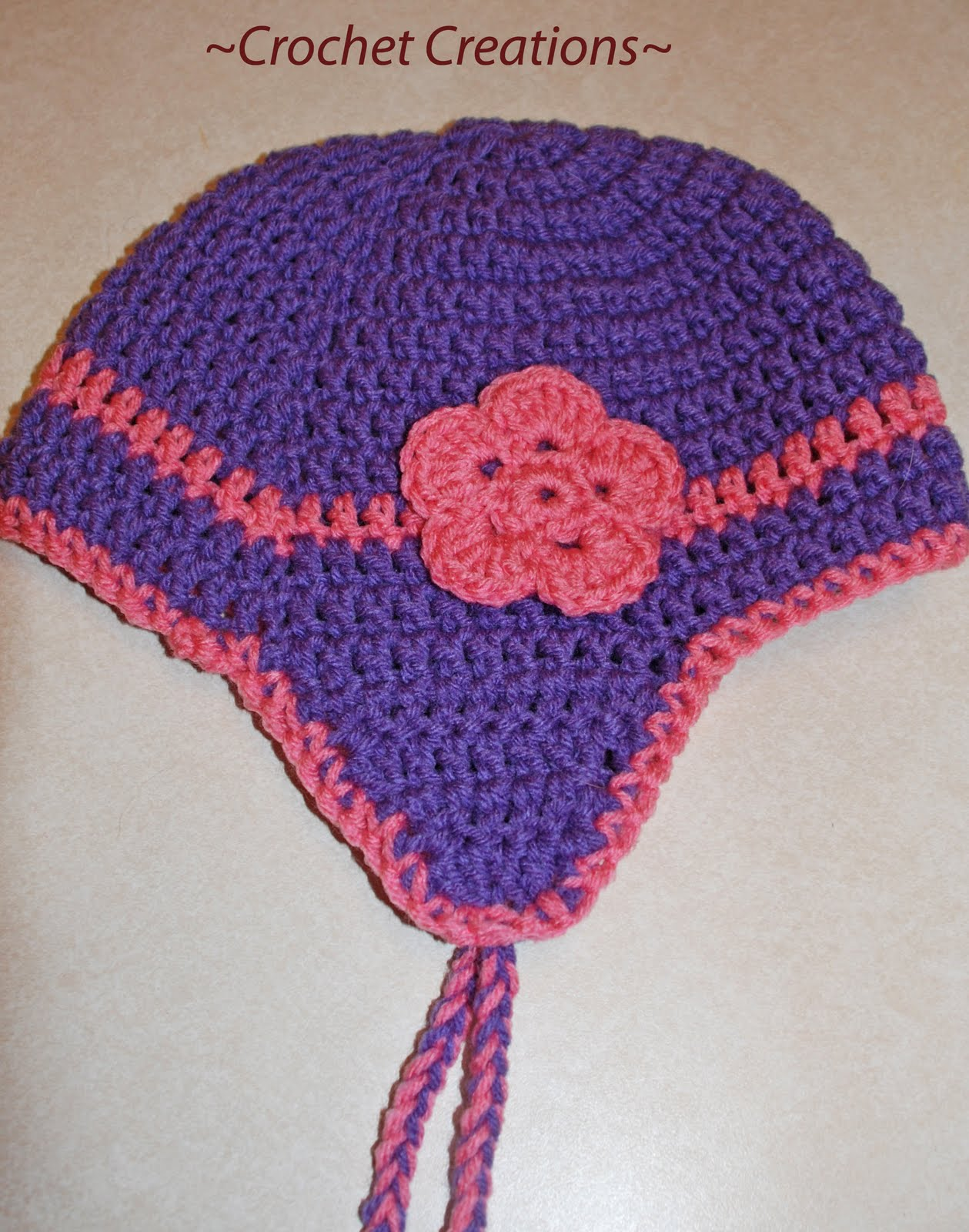 Crochet Patterns Hat With Ear Flaps : CROCHET EAR FLAP HAT PATTERNS Crochet Patterns
