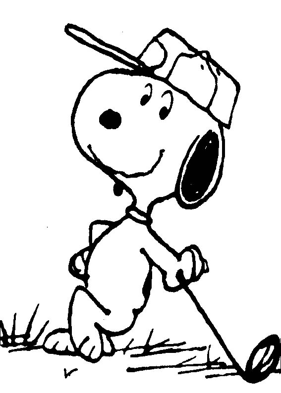 Cartoon Coloring Pages Pictures: Snoopy Coloring Book