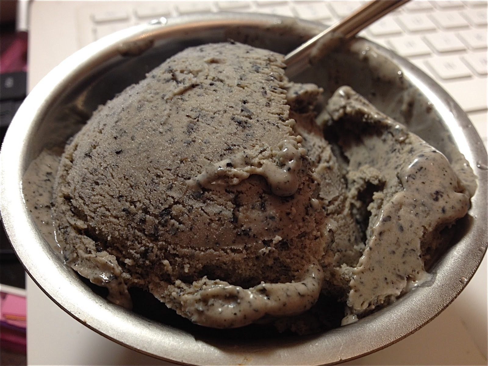 Black Sesame Ice Cream I made this black sesame ice