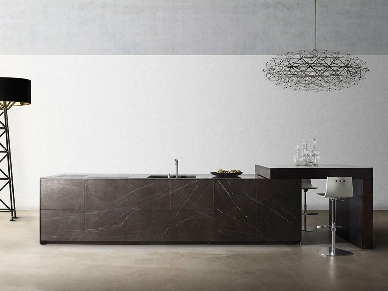 valérie adoooore: La cuisine en marbre noir TM Italia Cucine