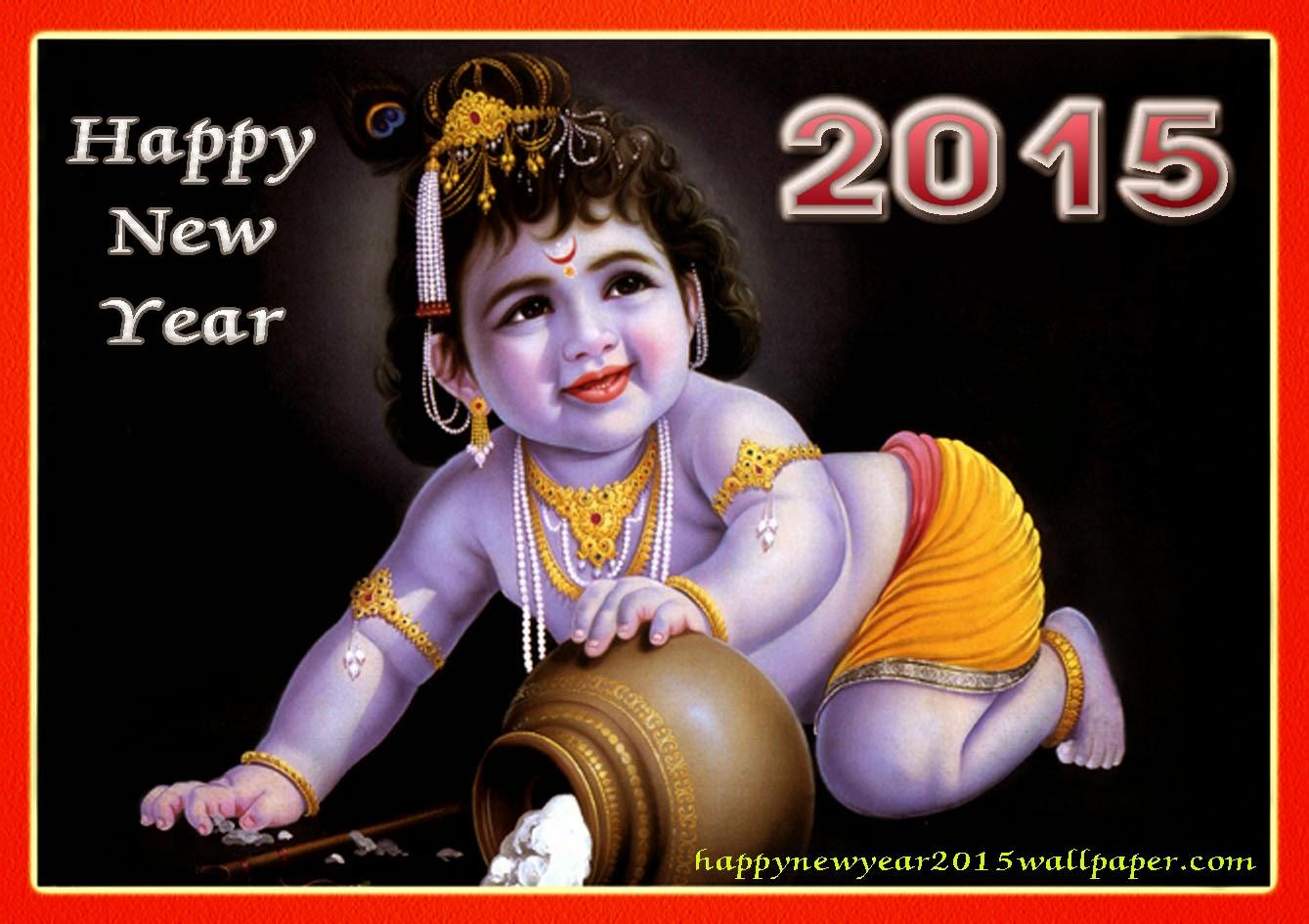 Happy New Year Lord Krishna Happy New Year 2015 God