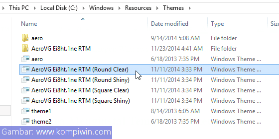 Cara Menginstal Tema Pihak Ketiga Baru di Windows 6