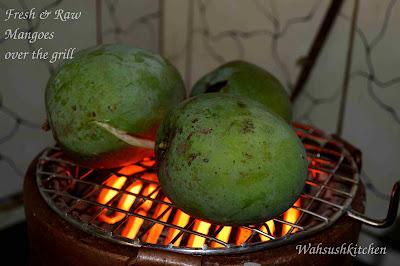 mango on grill