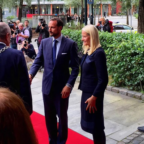 """The couple attended the opening of the laboratory """"SINTEF Energy"""", the opening of an innovation center for students at the Norwegian University of Technology"""