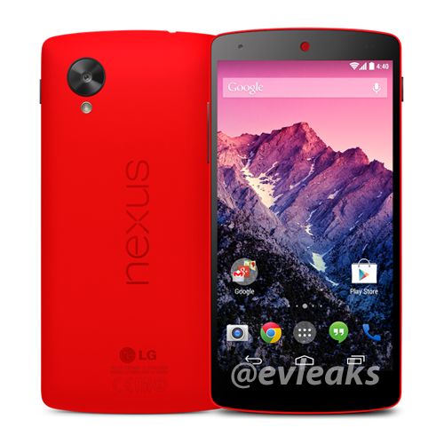 Google Nexus 5 in Red