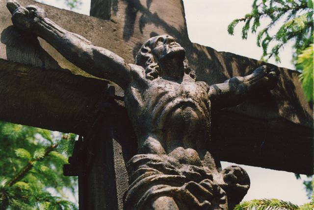 Końskie. Krzyż przy ulicy Wjazdowej - Męka Pańska. Fot. KW