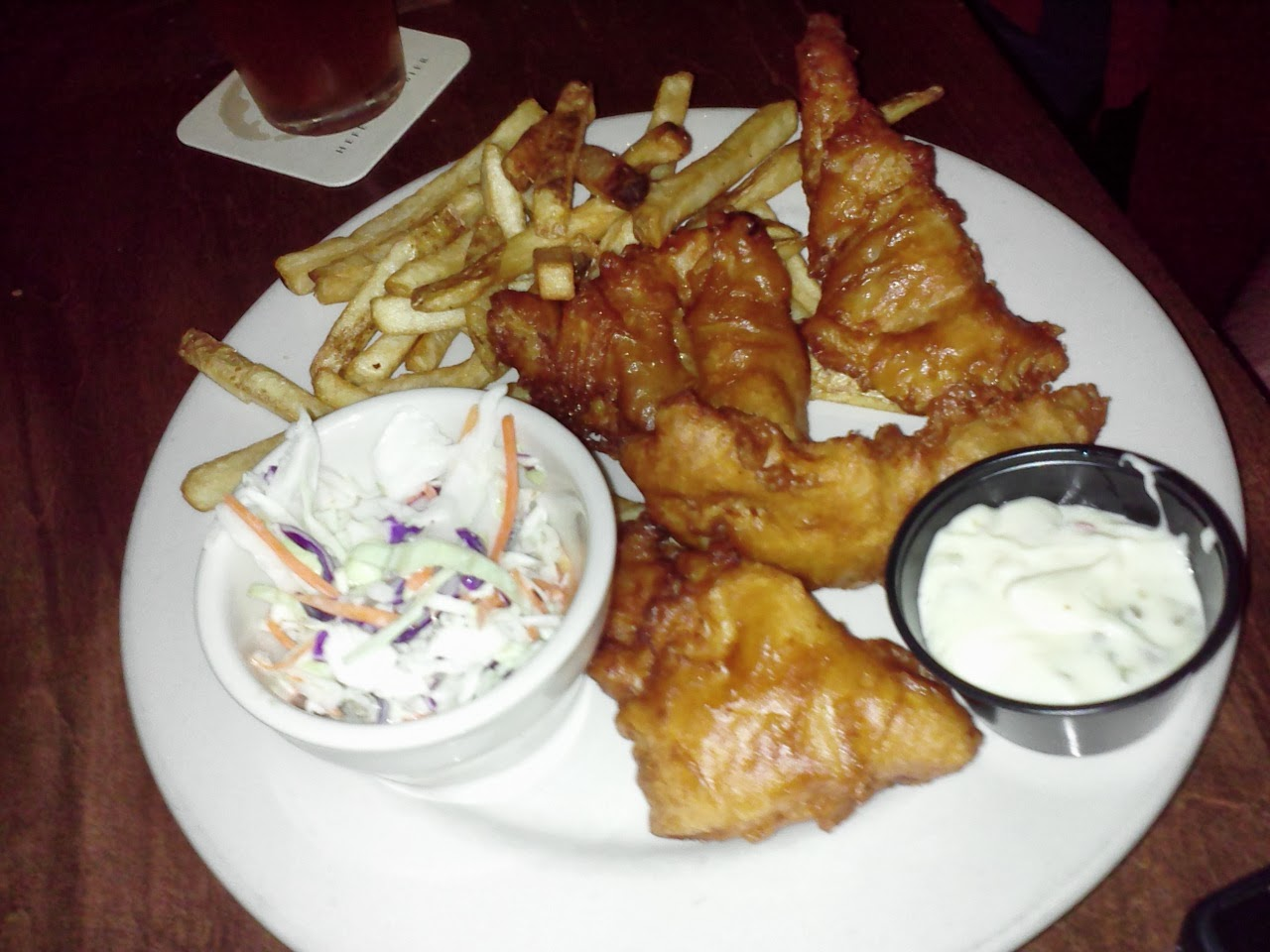 Allen Wickers fish and chips