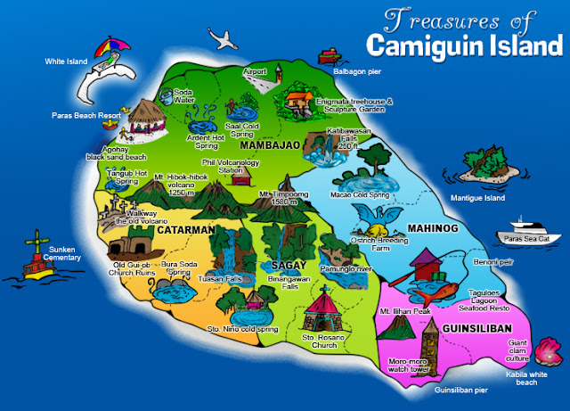 Map of Camiguin island tour destinations - Courtesy of 2.bp.blogspot.com