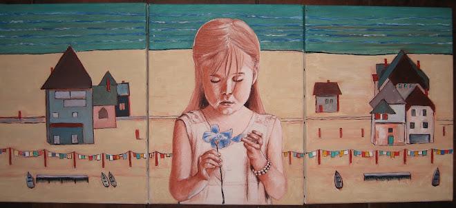 Nina toile acrylique et triptyque (2012)