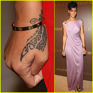 crishbrown and rihana Tattoos